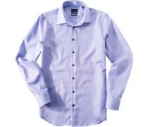 Hemd Modern Fit Baumwolle royal gemustert