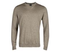 Pullover, Modern Fit, Merinowolle, nougat