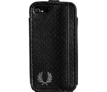 Herren  FRED PERRY Smart Phone Case Lederoptik schwarz