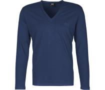 Herren T-Shirt Baumwoll-Stretch tintenblau
