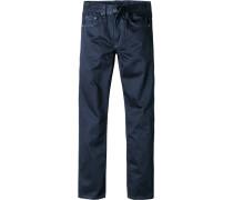 Herren Jeans Classic Comfort Fit Baumwolle beschichtet dunkelblau