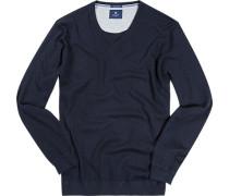 Pullover Seide-Baumwolle marineblau