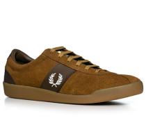 Schuhe Sneaker Veloursleder mittelbraun