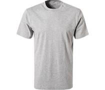 T-Shirt Pima-Baumwolle hellgrau meliert