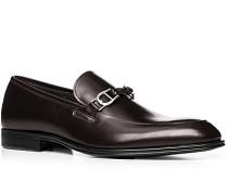 Herren Schuhe Loafers Leder dunkelbraun braun,braun