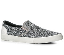 Schuhe Slip Ons Baumwolle -weiß gemustert