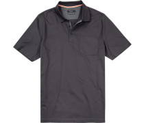 Polo-Shirt Polo Baumwolle mercerisiert dunkelgrau