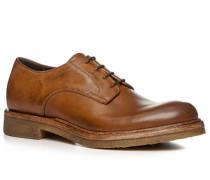 Schuhe Derby Kalbleder gebrusht cognac