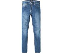Jeans, Regular Comfort Fit, Baumwoll-Stretch