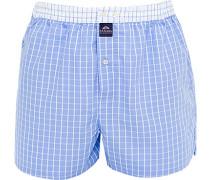 Unterwäsche Boxer-Shorts Baumwolle hellblau-weiß kariert