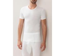 T-Shirt Schurwolle-Seide ecru oder kohle