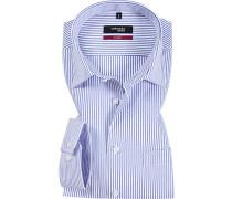 Herren Hemd Splendesto Baumwolle weiß-blau gestreift