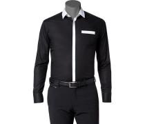 Hemd Ultra Slim Fit Popeline -weiß