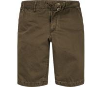 Herren Hose Shorts Regular Fit Baumwolle khaki beige