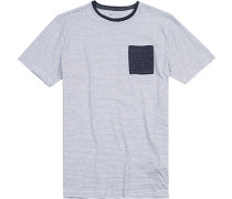 T-Shirt Modern Fit Baumwolle -navy gestreift