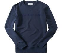 Pullover Sweater Baumwolle dunkelblau