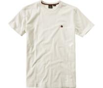 Herren T-Shirt Baumwolle wollweiß