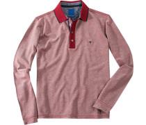Polo-Shirt Polo Regular Fit Baumwoll-Jersey meliert