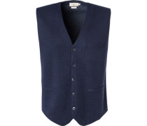 Pullover Weste Wolle navy