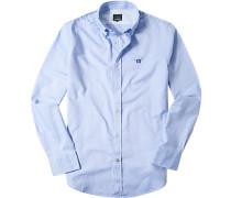 Hemd Oxford hellblau meliert