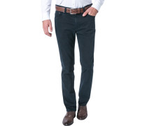Jeans Seth Tailored Fit Baumwoll-Stretch dunkelblau