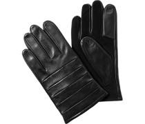 Herren  Handschuhe Lamm-Veloursleder schwarz