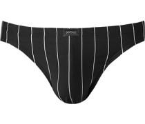 Herren Unterwäsche Slip Baumwoll-Stretch schwarz-weiß gestreift
