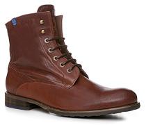 Schuhe Stiefeletten Kalbleder bordeaux