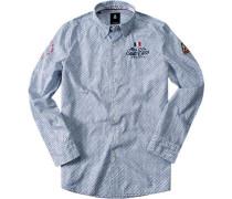 Hemd Regular Fit Baumwolle navy