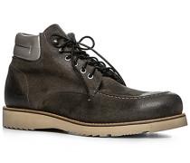 Schuhe Schnürstiefeletten Nubukleder anthrazit