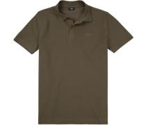 Polo-Shirt Polo Baumwoll-Pique khaki