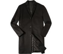 Herren Mantel Parka Wolle-Kaschmir-Mix schwarz schwarz,schwarz