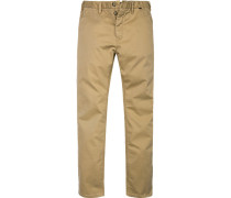 Herren Hose Chino Slim Fit Baumwoll-Stretch camel beige