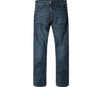 Herren Jeans Jake Slim Fit Baumwoll-Stretch denim blau