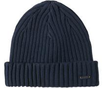 Mütze Schurwolle-Baumwolle navy