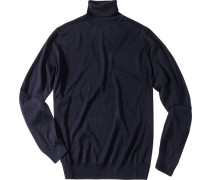 Pullover, Seiden-Kaschmir-Mix, marineblau