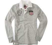Herren Pullover Sweater Baumwoll-Mix grau