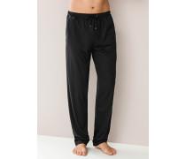 Schlafanzug Pyjamahose Baumwolle anthrazit