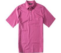 Herren Polo-Shirt Polo Baumwoll-Piqué dunkelrosa