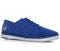 Sneakerschuh Veloursleder royalblau