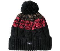 Mütze Microfaser -rot gestreift