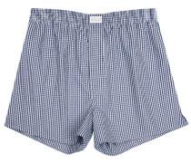 Herren Unterwäsche Boxer-Shorts Popeline blau-weiß kariert