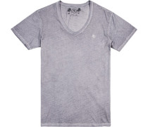 T-Shirt Baumwolle steingrau