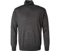Herren Pullover Seiden-Kaschmir-Mix anthrazit grau