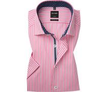 Hemd Modern Fit Popeline pink-weiß gestreift