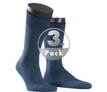 Socken Socken Baumwolle-Kaschmir petrol meliert