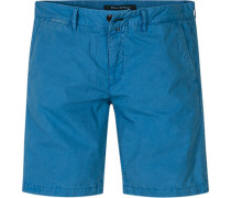 Hose Shorts Regular Fit Baumwolle bleu