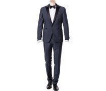 Anzug Smoking Wolle-Mohair -schwarz meliert