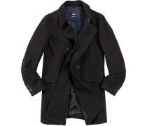 Mantel Cromis Baumwolle-Wolle wattiert nachtblau meliert