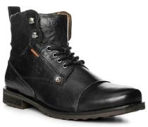 Schuhe Stiefeletten Leder schwarz